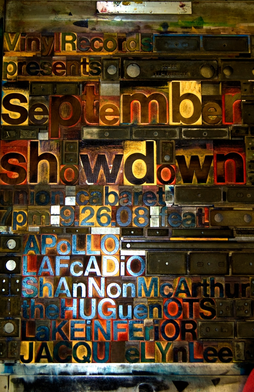 Vinyl Records September Showdown, 7pm Friday